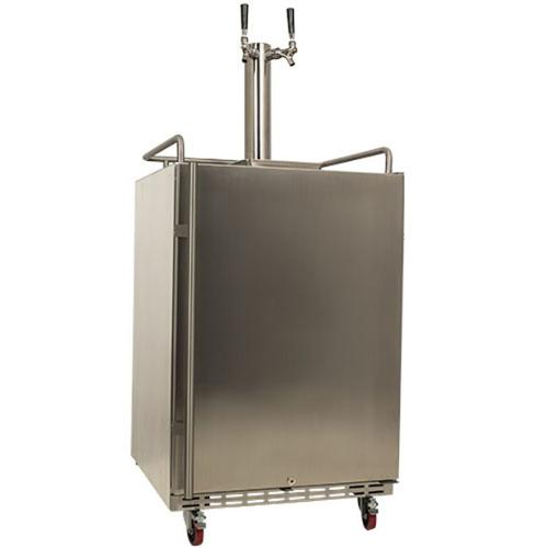 EdgeStar Full Size Dual Tap Stainless Steel Outdoor Kegerator Sold By Living  Direct