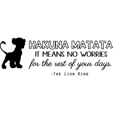 Lion King Bedroom Wall Decor- HAKUNA MATATA Vinyl Quote / Kids Quote -  20\