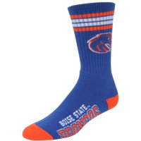 Boise State Broncos For Bare Feet 4-Stripe Deuce Shin Socks
