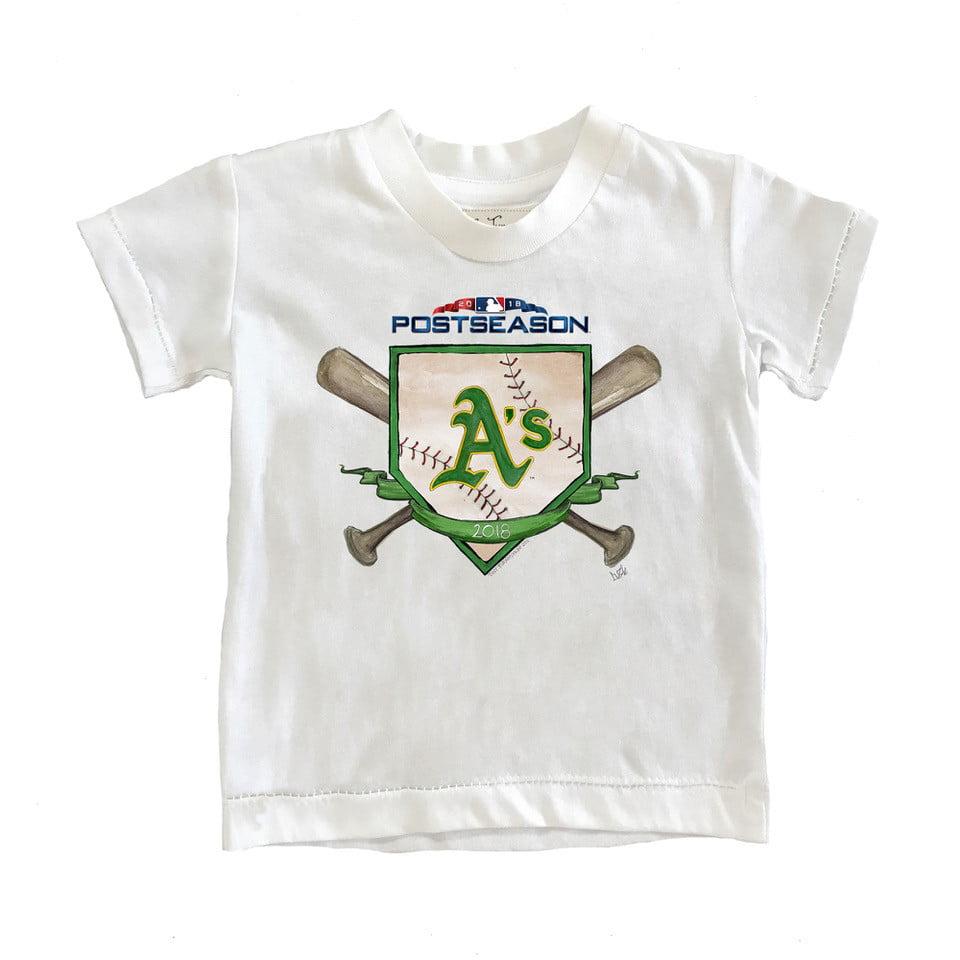 Oakland Athletics Tiny Turnip Infant 2018 Postseason T-Shirt - White