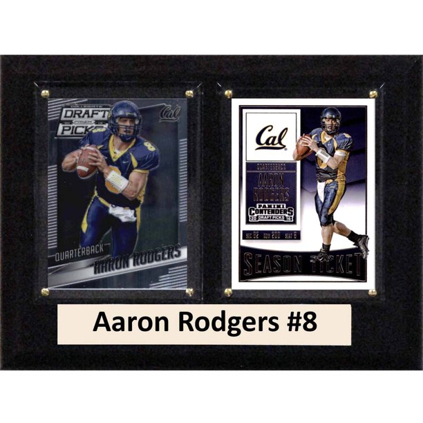 "C & I Collectables NCAA 6"" x 8"" Aaron Rodgers California Golden Bears 2 Card Plaque"