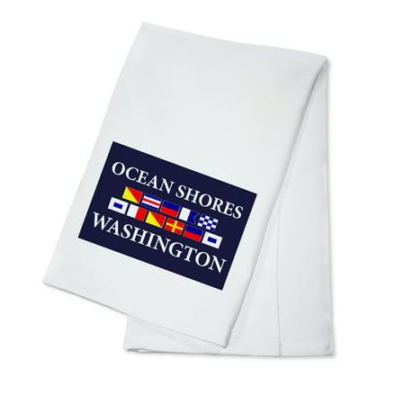 Ocean Shores, Washington - Nautical Flags (100% Cotton Kitchen Towel)
