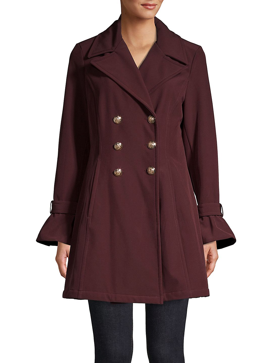 Double Breasted Bell Sleeve Coat