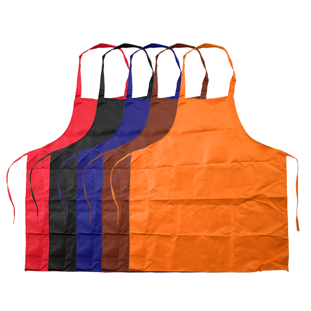 Sleeveless Simple Adjustable Plain Apron with Front Pocket Butcher Waiter Chefs Kitchen Cooking Craft