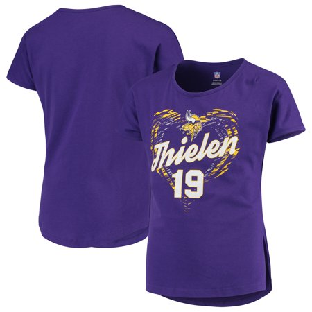 Adam Thielen Minnesota Vikings Girls Youth Sonic Heart Player Name & Number Dolman T-Shirt - Purple - Sonic Girls