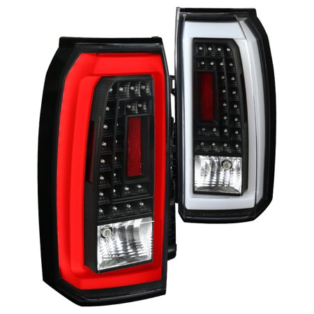 Spec-D Tuning 2015-2017 Chevy Tahoe Suburban LED Black Rear Tail Lights Brake Parking Lamps Pair (Left + Right) 15 16 17