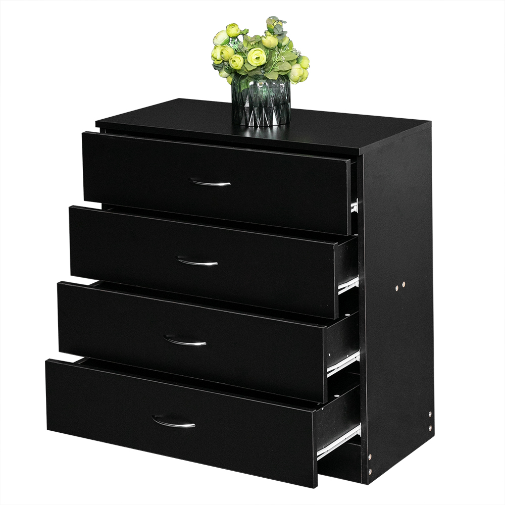 simple bedroom storage dresser 4 drawers with cabinet wood