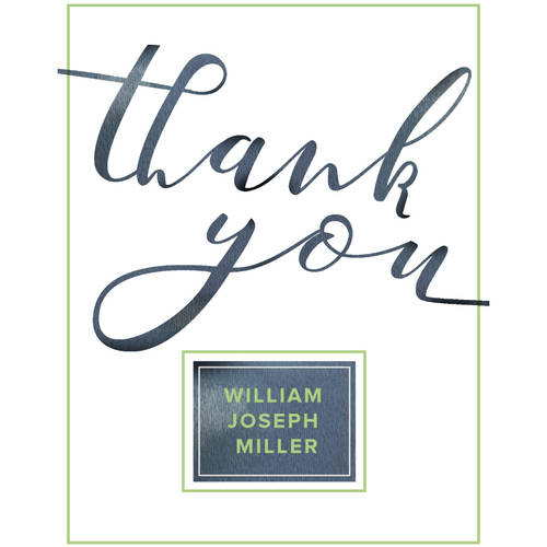 Graceful Script Thank You Card