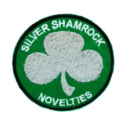 Halloween Iii Silver Shamrock Song (Silver Shamrock Novelties Patch Iron on Applique Halloween III Clothing Horror)