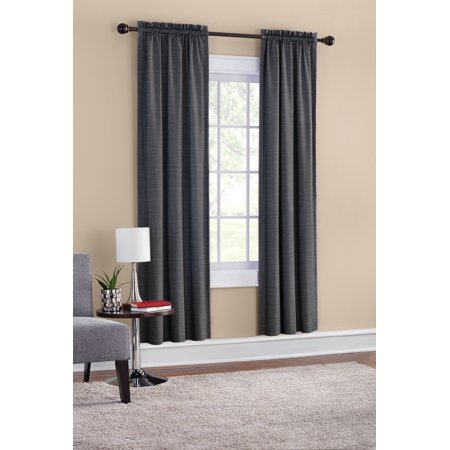 Mainstays Room Darkening Threaded Print Curtain Panel Pair ()