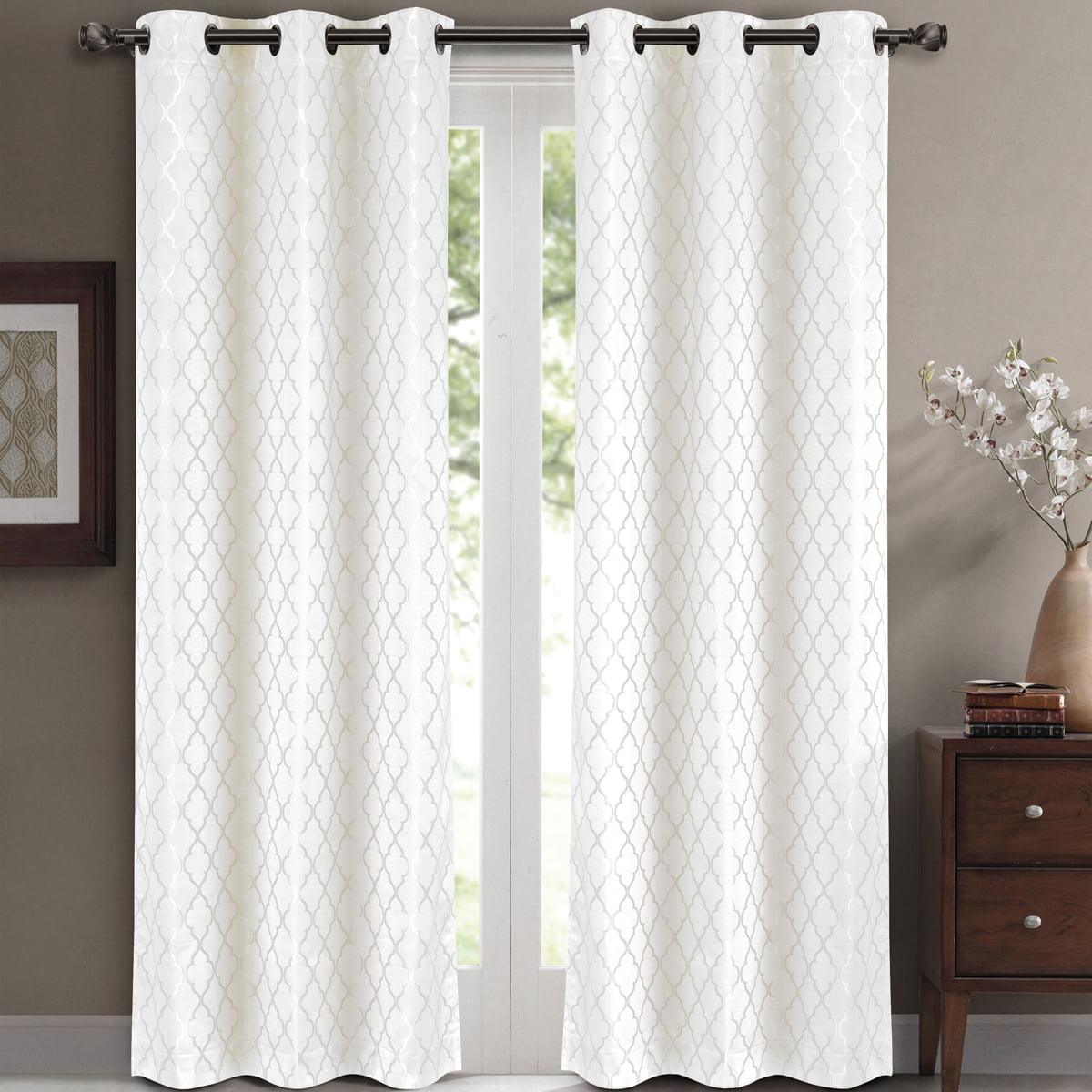 home boch com stripe blackout curtains drapes curtain dp black half kitchen price amazon awning white