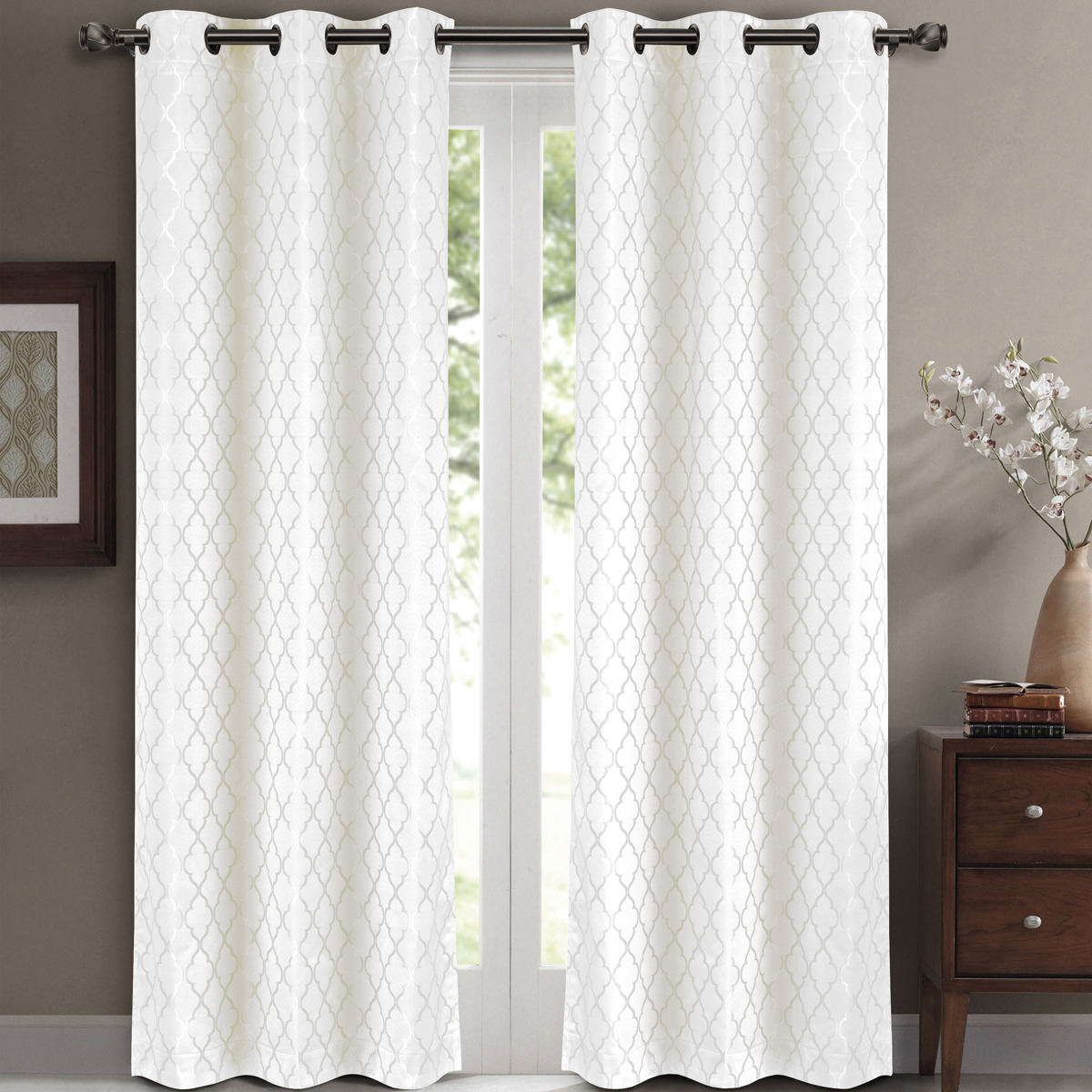 Pair Set Of 2 Willow Thermal Insulated Blackout Curtain Panels