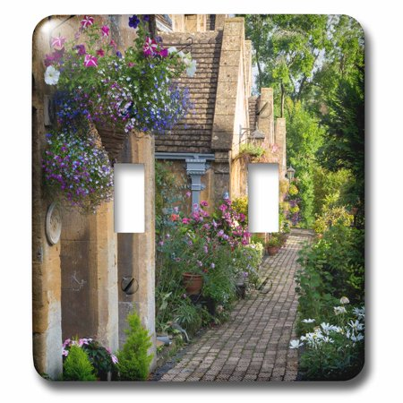 3dRose Row of cottages in Winchcombe, Gloucestershire, England - Double Toggle