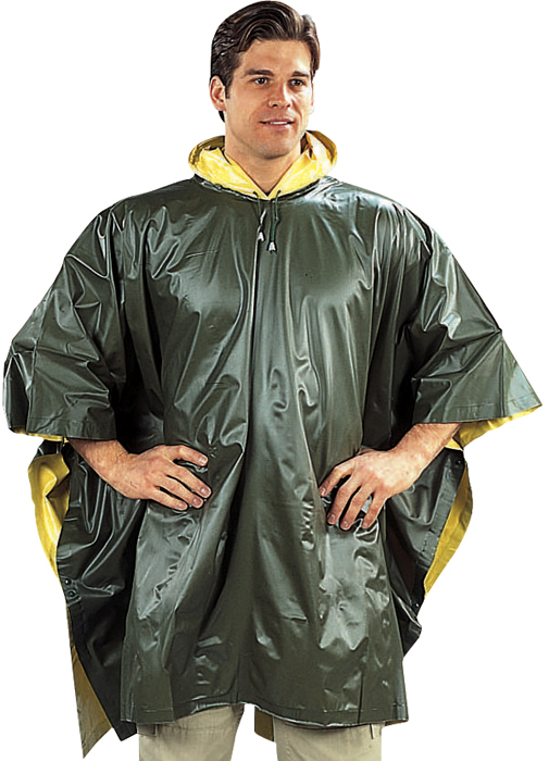 Olive Drab To Yellow PVC Reversible Poncho by Rothco