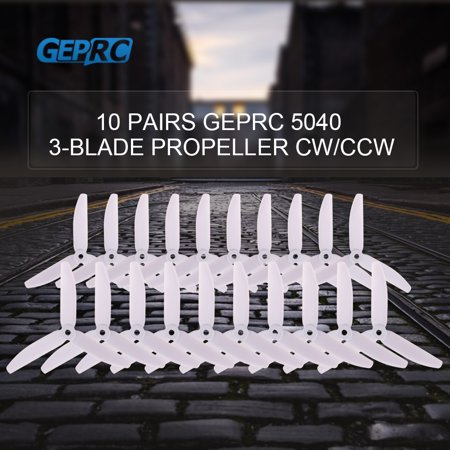 Racing Props (10 Pairs GEPRC 5040 5in 3-Blade Propeller Triblade Props for FPV Racing Quadcopter QAV210 250)