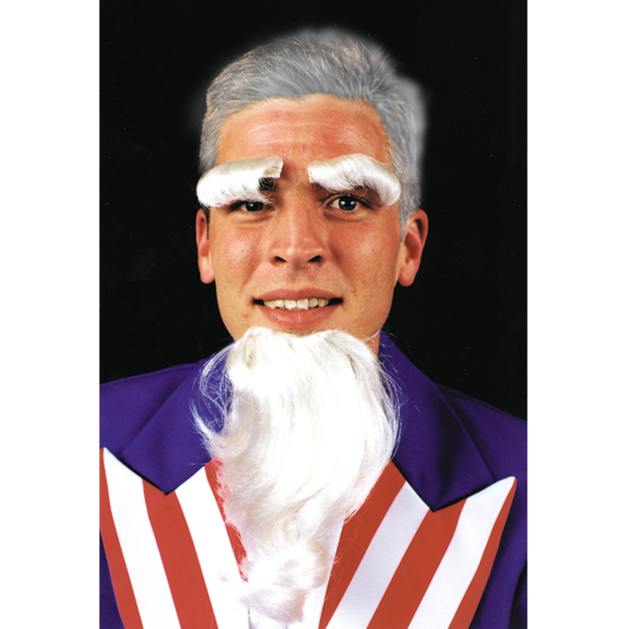 Uncle Sam Goatee Eyebrows Set Adult Halloween Accessory