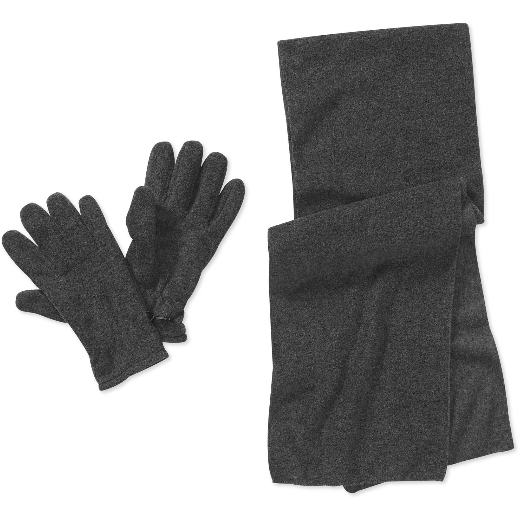 Men's Fleece Scarf and Gloves Set