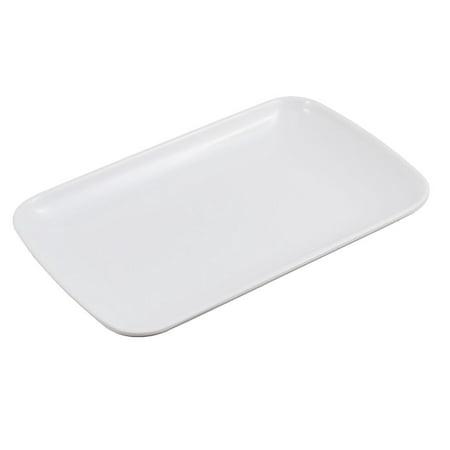 Unique Bargains Plastic Rectangle Design Dessert Appetizer Vermicelli White](Halloween Appetizers Ideas)