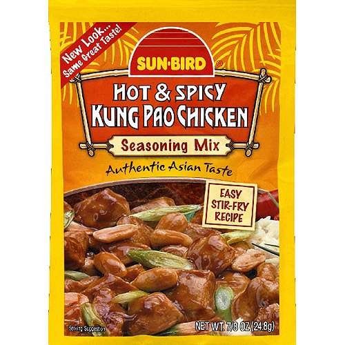 Sun-Bird Hot & Spicy Kung Pao Chicken Seasoning Mix, 0.875 oz, (Pack of 24)