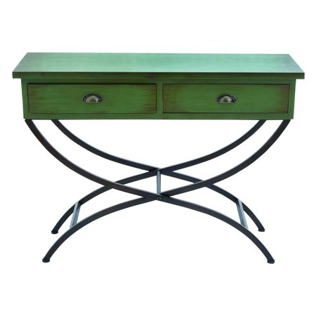 Benzara Metal Wood Table With Accentuated Curved Legs