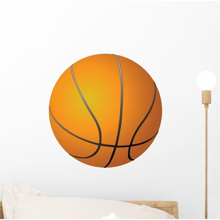 Orange Basketball Cut out Wall Decal by Wallmonkeys Peel and Stick Graphic (12 in H x 12 in W) WM341482 (Wall Cut Outs)