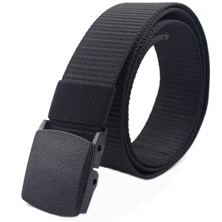 CoreLife Nylon Mens Tactical Belt Adjustable Casual Outdoor Military Style Woven Belt with Non-Metal Heavy Duty Buckle ()