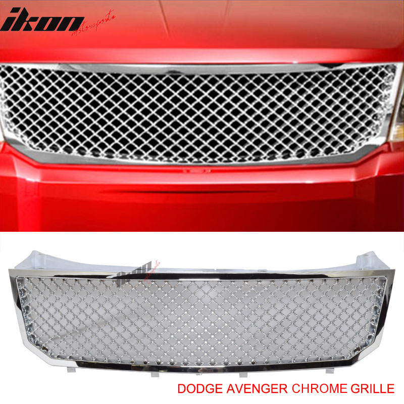 07-10 Dodge Avenger Honeycomb Front Sport Mesh Grill Hood...