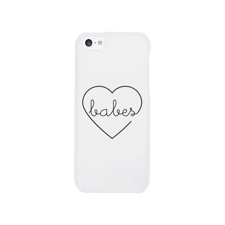 Best Babes-Right White BFF Matching Apple iPhone 5C Cover Gift