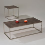 Cecil Coffee Table, Walnut and Brushed Nickel