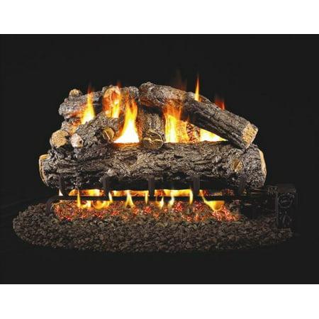Standard Rustic Oak Designer Gas Logs 18 Inch