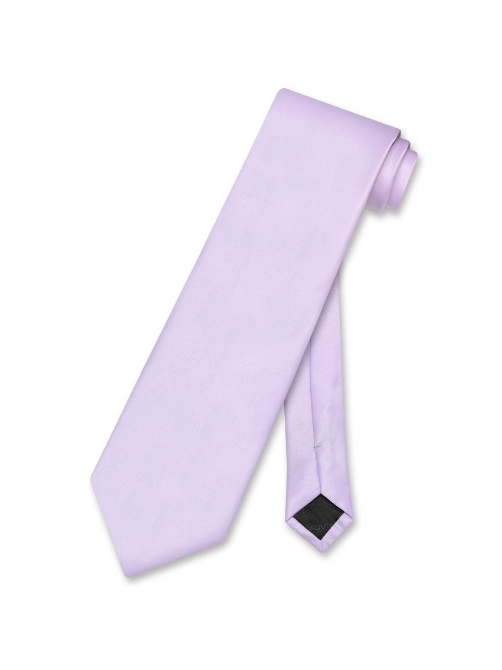 Vesuvio Napoli NeckTie Solid Lavender Purple Color Men's Neck Tie