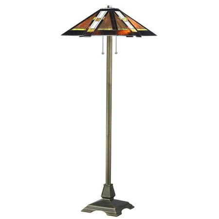 Serena d'italia Tiffany 2 light Mission 58 in. Bronze Floor Lamp