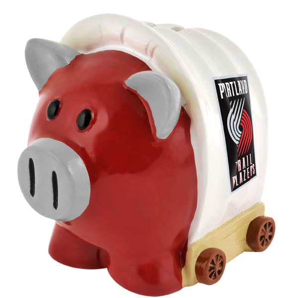 Portland Trail Blazers Piggy Bank Thematic Large by