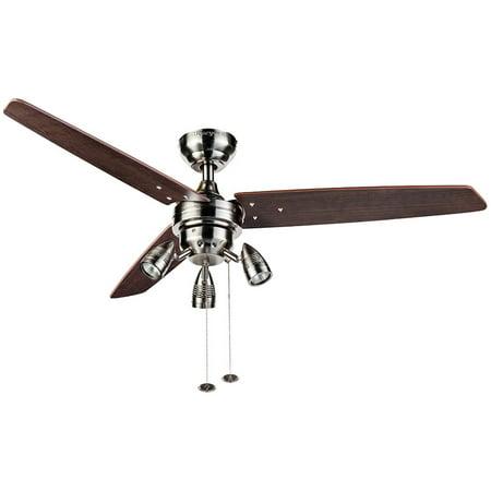48 Honeywell Wicker Park Ceiling Fan Satin Nickel
