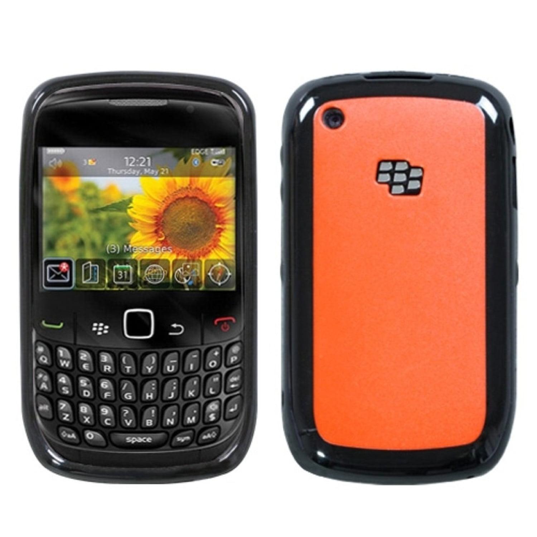 Insten Solid Red/Solid Black Case Cover For BLACKBERRY 8520 8530 9300 3G 9330 3G