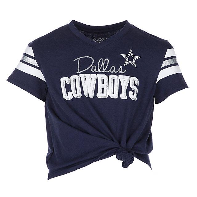 Dallas Cowboys Girls Sammie Navy T Shirt