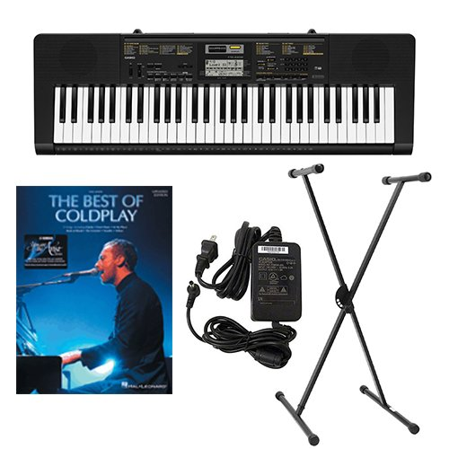 Casio CTK2400 61-Key Keyboard Deluxe Package with Casio Keyboard Adapter, Keyboard Stand & The Best of... by Casio