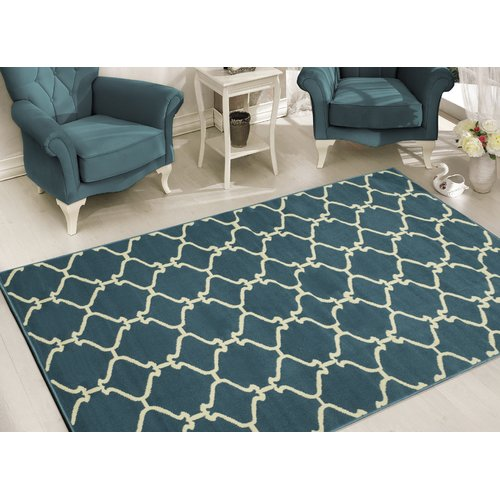 Sweethome Stores Clifton Collection Moroccan Geometric Trellis Design Living and Bedroom Area Rugs