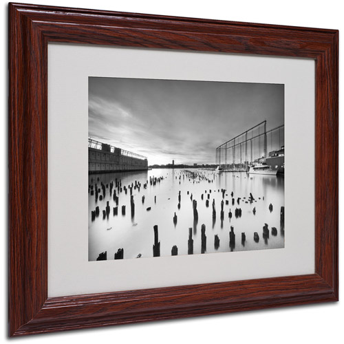 """Trademark Fine Art """"Palimpsest"""" Matted Framed Art by Geoffrey Ansel Agrons, Wood Frame"""