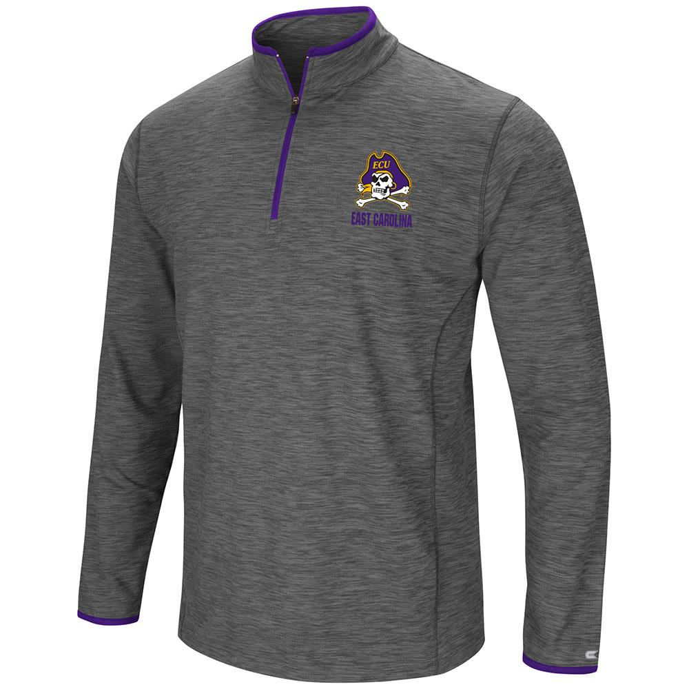Mens East Carolina Pirates Quarter Zip Wind Shirt