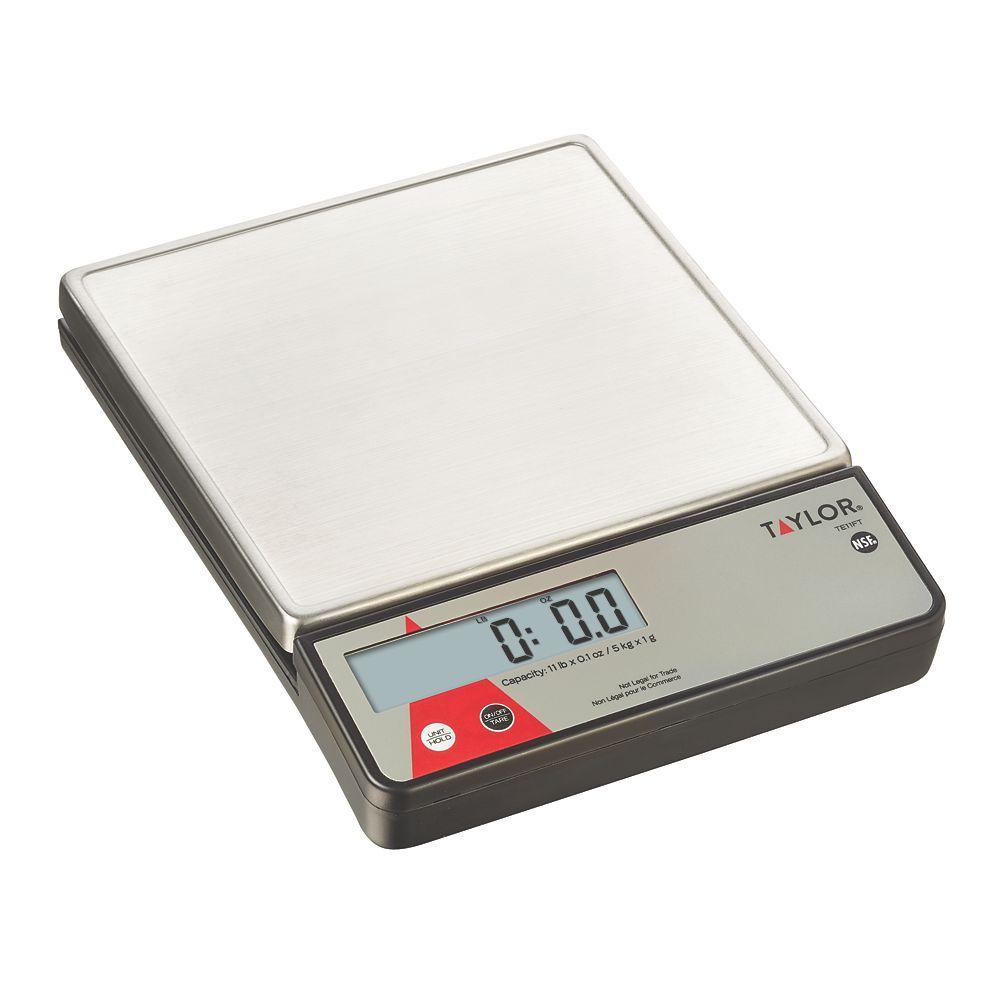 Taylor Precision TE11FT 11 Lb. Platform Digital Portion Control Scale