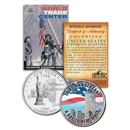 WORLD TRADE CENTER * 3rd Anniversary * 9/11 New York State Quarter U.S. Coin WTC