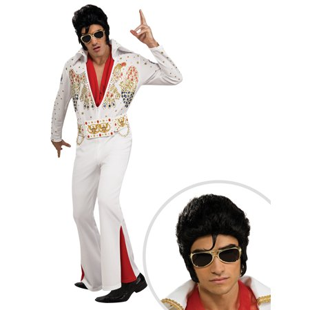 Men's Deluxe Elvis Presley Costume and Men's Deluxe Elvis - Priscilla Presley Halloween