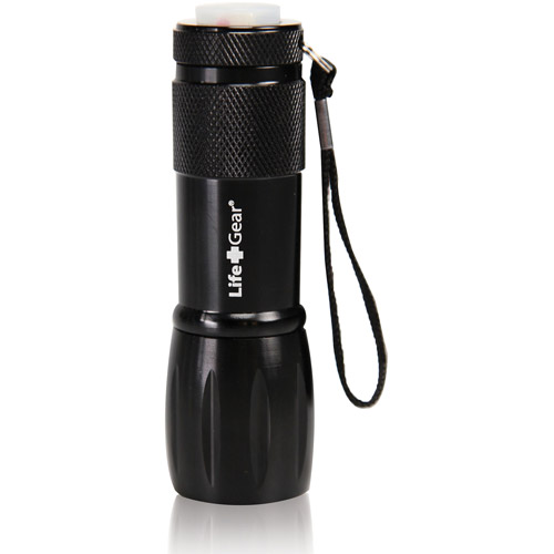 Life Gear Mini Max LED Flashlight with Red Tail Emergency Flasher