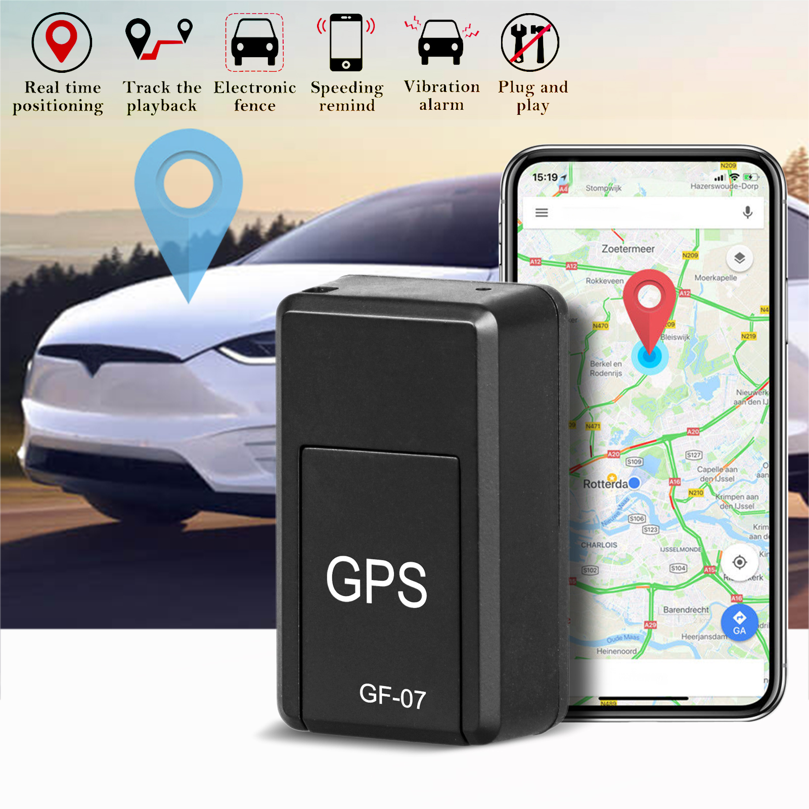 TSV GSM GPRS Magnetic Mini Vehicle Car GPS Tracker Realtime Tracking Locator Device Voice Record