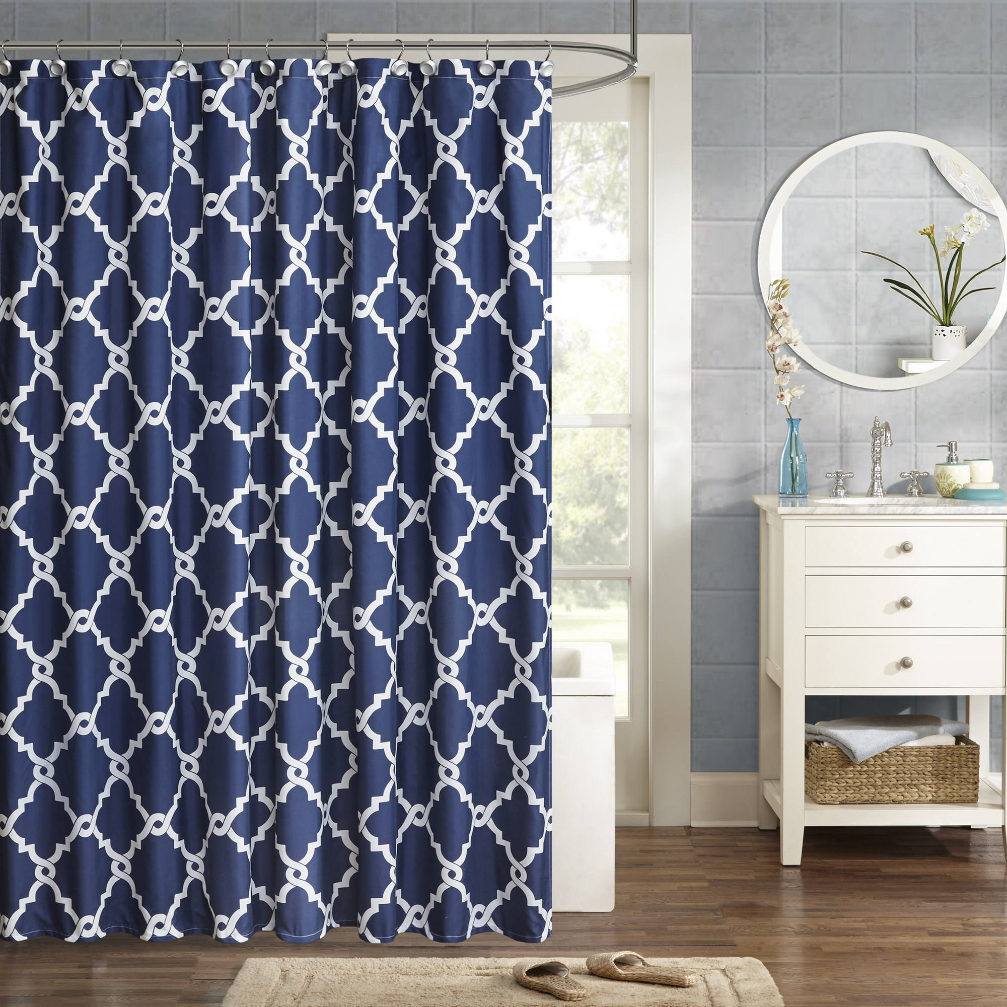 Home Essence Becker Ultra Soft Printed Shower Curtain