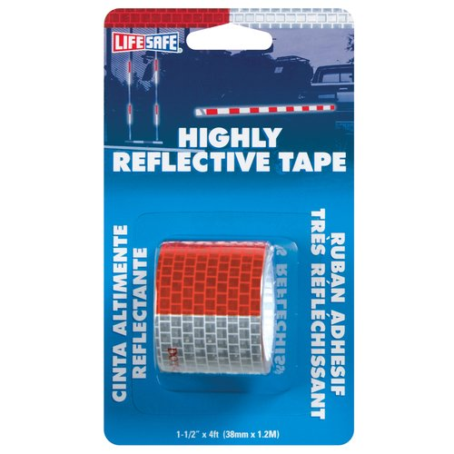 "Incom RE800 1-1/2"" x 4' Red and Silver Reflective Tape"