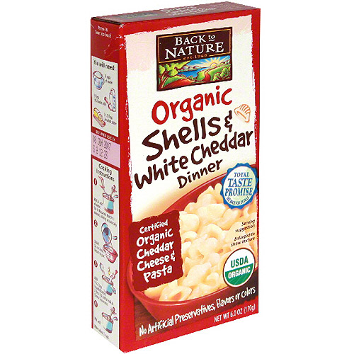 Back To Nature Organic Shells & White Cheddar Pasta, 6 oz (Pack of 12)