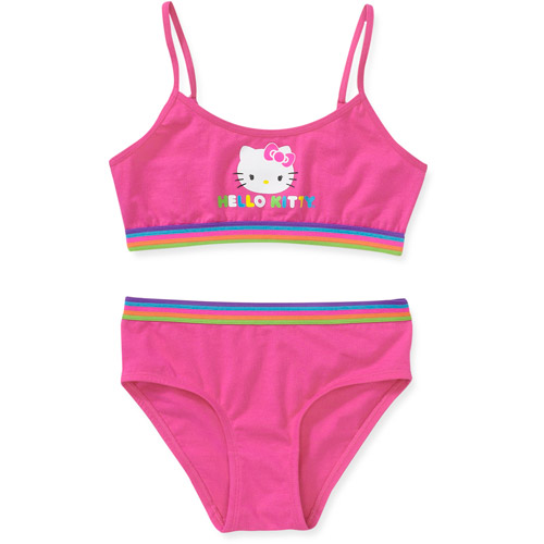 Hello Kitty - Girls' Cropped Bra and Panty Set