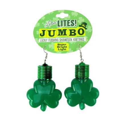 2286633 st. patricks day jumbo light up earring - case of 48
